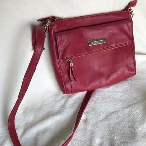 Liz Claiborne Red Crossbody Bag  -  Brand New